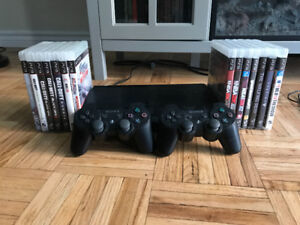 PS3 + 2 controllers + 14 games