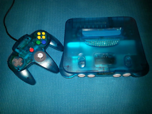 Nintendo Ice Blue N64 with matching controller $150