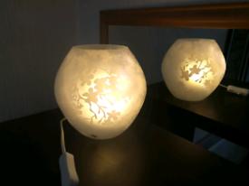 Cherry-blossoms Table Lamp, white, 18 cm (Ikea Knubbig)