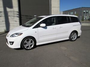 MAZDA 5 GT FULL 2008 CUIR TOIT MAG AIR 6 PASSAGERS 95.000 KM