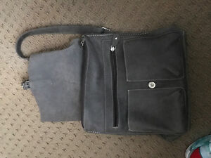 Roots Gray leather back pack bag Kitchener / Waterloo Kitchener Area image 2