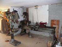 I have a 9 foot long bed lathe and drill press
