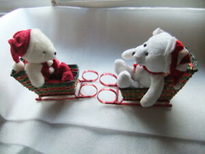 Christmas Sleigh Baskets and Christmas Stuffed Toy Bears