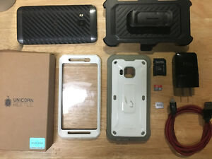 Bell Carbon Fiber HTC One m9 + 32GB Micro Sd + Durable Case