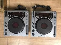 Pair of Pioneer CDJ 800 Mk1 decks