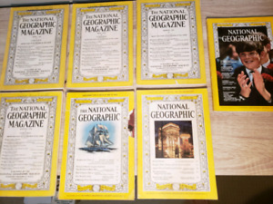 Lot of National Geographic Magazines  (7) 1933-1969