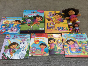 Dora book and figure collection