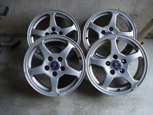 """Set of 15"""" orig SAAB Rims - 5 by 110 Good Condition"""