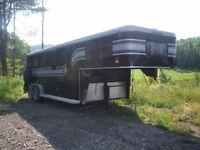 3 horse slant load trailer