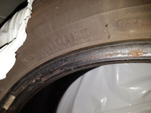 4 Motomaster Tires for Sale 225/50R17