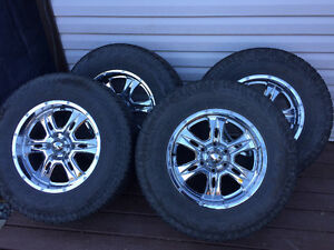 Toyo Open Country Tires & Chrome Rims