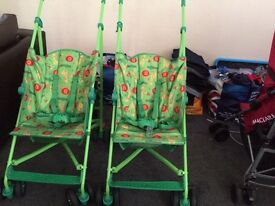2 green strollers for Sale