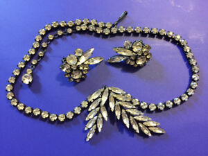 Sherman necklace and earrings set. Vintage.
