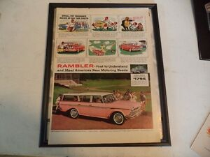 OLD AMC CLASSIC CAR FRAMED ADS Windsor Region Ontario image 8