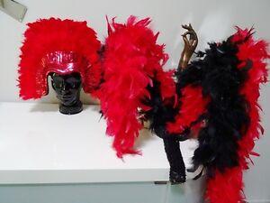 SHOWGIRL HEADDRESS  BUSTLE bling feathers COSTUME DRAG SO CHER!