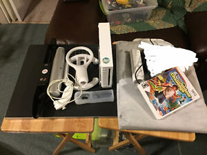 Wii console with accessories and outdoor challenge game with pad
