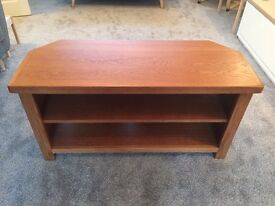 Oak TV/Multimedia Corner Unit
