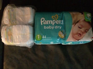 58 couches Pampers baby dry #1
