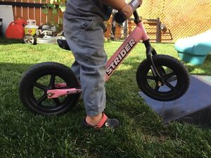 Pink strider with ramp