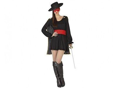 Kostüm Frau Zorro Schwarz XL 44 Zeichnung Zeichentrick- Kino Disney Film (Disney Kostüm Zeichen)
