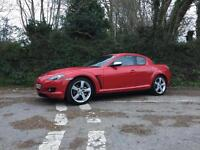 2006 06 MAZDA RX8 192 VELOCITY RED FULL BLACK LEATHER ONLY 58000 MILES
