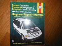 Haynes Repair Manual, Dodge Caravan, Plymounth Voyager,Chrysler