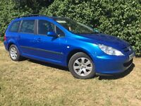 2004 PEUGEOT 307 ESTATE - 1 YEARS MOT - COLD AIR CON - CLEAN