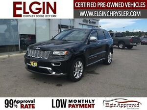 2015 Jeep Grand Cherokee Summit***Leather,Navi,Pano,B-up Cam***
