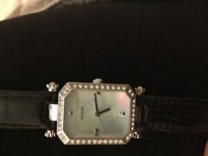 Guess Black Leather Watch