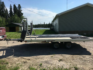 Triton XT14-101 drive on/drive off aluminum snowmobile trailer--