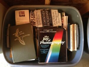 Assorted books / Old Camera/Accessories