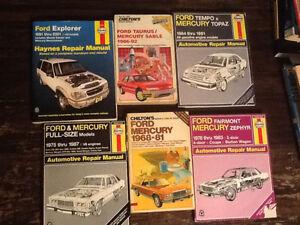 ford,mercury,tempo,topaz,escort,explorer ltd car,shop manual