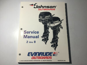 1995 Johnson Evinrude Outboards 2-8 HP Service Manual 1 & 2 Cyl