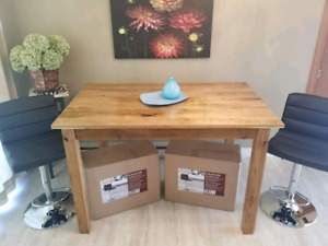 Hand Crafted Solid Butternut Hardwood Dining/Kitchen Table