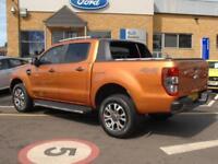 2016 Ford Ranger 4x4 D/Cab 3.2 Tdci Wildtrak Auto 200PS Diesel orange Automatic