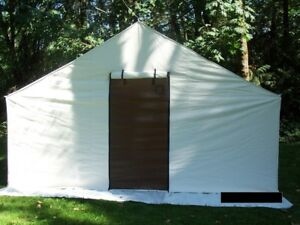 Wall Tent 14x16x5 New Sunforger Canvas