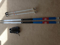 Salomon, cross country ski's, boots and poles