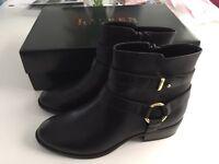 BNIB Ralph Lauren 'Margo' black ankle boots size 3.5