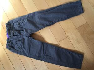 Pantalon gris fille 4 ans
