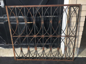 Antique Wrought Iron Fence section. Window Grate