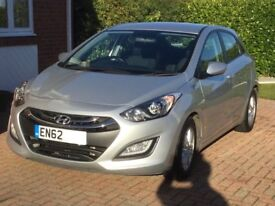 2013 62 PLATE HYUNDAI I30 ACTIVE BLUE DRIVE CDRI 1.6 DIESEL MANUAL 5 DOOR HATCHBACK
