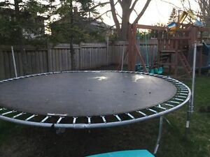 Trampoline. Fully disassembled.