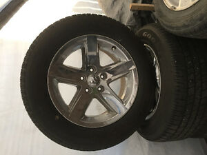 "20"" Dodge Ram 1500 wheels and tires"