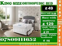 Single, Double and King Size Orthopedic Bed Frame with Mattress Range