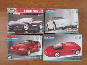 Plastic Model Cars Used Assorted