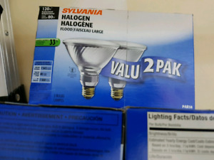 120W halogen bulbs