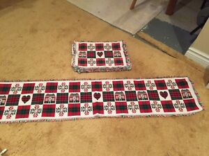 8 Christmas Placemats and Table Runner