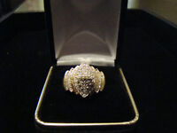 1.05ctw 10k Gold & Diamond Cluster Ring *SALE NOW ONLY $442.50*