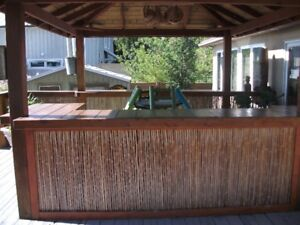 Tiki Deck arbor, railings, bar, roof structure for sale. To be
