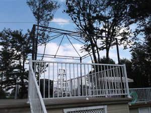 Abris de jardin en acier galvanisé moka 10 X 10